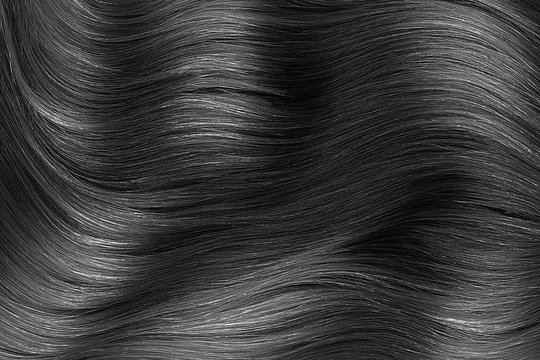 Black shiny hair abstract background texture