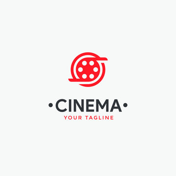 cinema logo template,Film Equipments. Good symbol design for Movie Maker