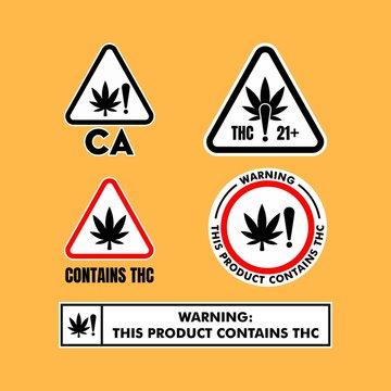 California Cannabis Warning Signs vector
