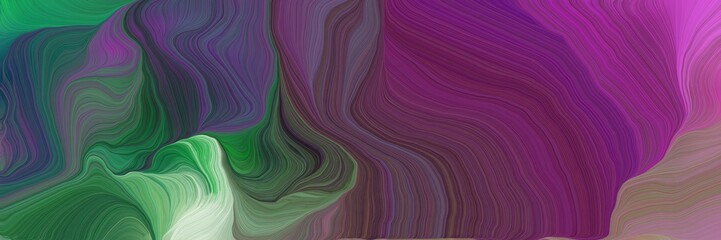 dynamic futuristic banner. modern waves background design with old mauve, dark sea green and dim gray color Wall mural