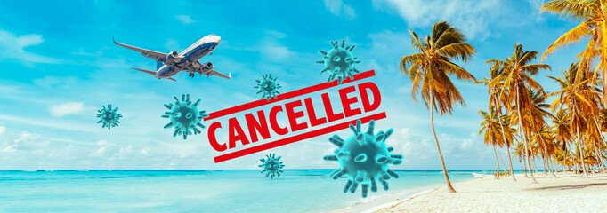 Cancellation of flights by the Coronavirus. Fototapete