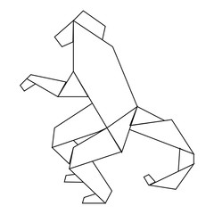 picture of monkey in line style on a white background