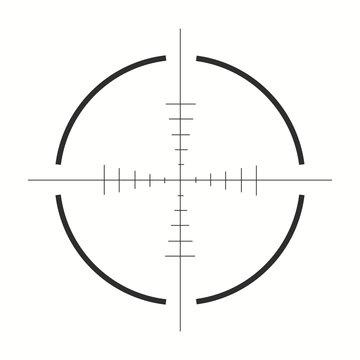 Sniper scope icon. Vector illustration