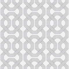 Abstract chain seamless pattern, Round rectangle Interlocking pattern background, Retro pattern, Vector
