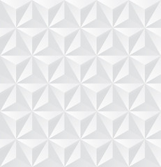 Abstract white triangle background, 3d triangle seamless pattern, Vector.