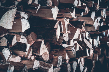 Foto auf Leinwand Brennholz-textur Brennholz Lager