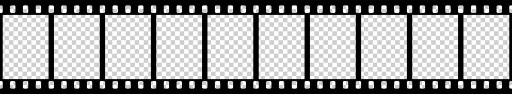 Black and white camera film template. Right angles of the frame. Vector illustration.