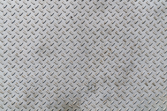 Closeup of checkered plate surface