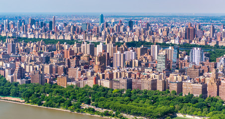 Fototapete - Aerial view of Central Park and New York City, NYC- USA