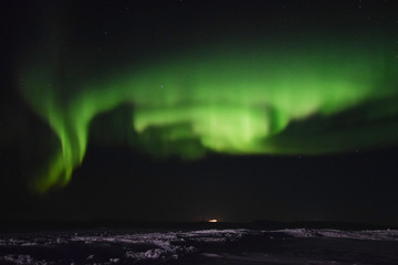 Tuinposter Noorderlicht Northern lights over the Nunavik tundra (Canada)