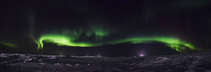 Northern lights over the Nunavik tundra (Canada)