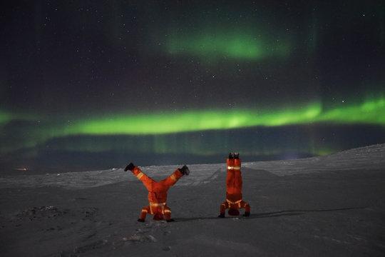Having fun with the auroras in Nunavik (Canada)