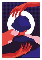 Frau und Hände