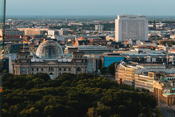 View of Reichstag Dome and Charite University Hospital in Berlin, Germany Fotomurales
