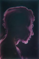 Profile Android human retro futuristic illustration