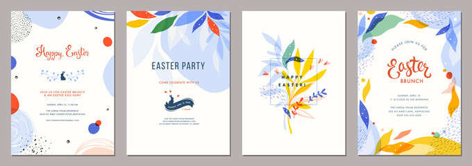 Wall Mural - Trendy abstract Easter templates. Good for poster, card, invitation, flyer, cover, banner, placard, brochure and other graphic design.