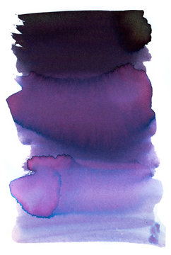 Watercolor inks texture purple