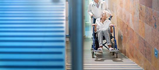doctor cheering up patient