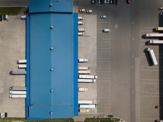 Drone view of territory truck terminal.