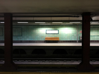 Empty subway station in Athens, Greece