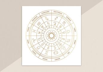 Zodiac Chart Card Layout