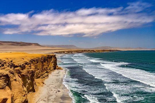 Peru, Ica Department. Paracas National Reserve. Supay Beach