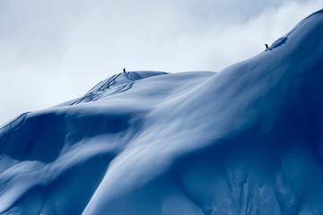 Man skiing in backcountry at Mt. Baker, Washington