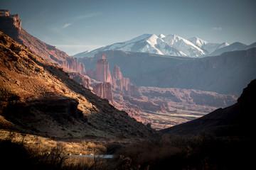 An autumn scene in the desert near Moab