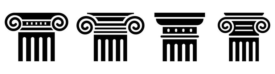 Column icon set. Greek column. Vector Wall mural