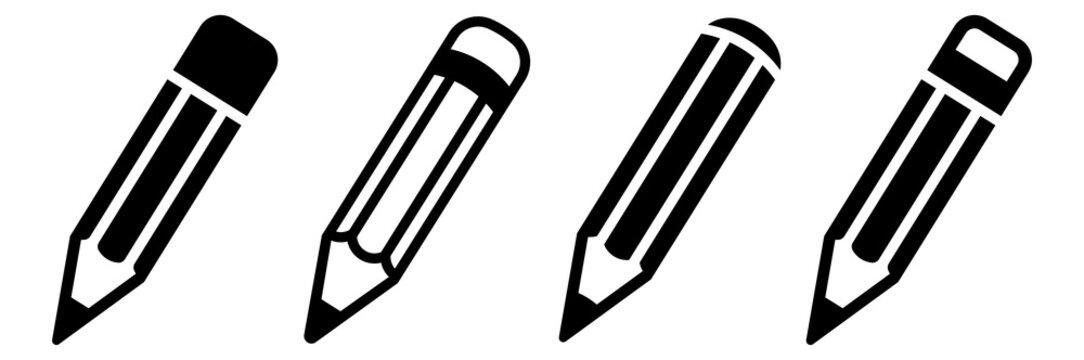 Pencil icon set. Vector illustration