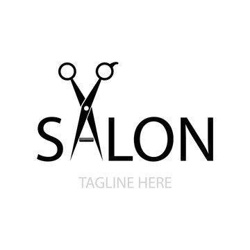 scissors illustration logo vector