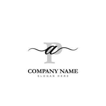 Initial AP logo luxury beauty template illustration