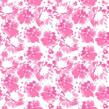 Tie dye shibori background. Vector seamless pattern, ink textured background, japan rustic batik wallpaper tile.