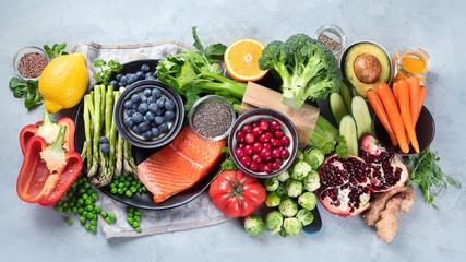 Keuken foto achterwand Keuken Healthy food selection