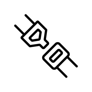 Seat belt icon vector. Thin line sign. Isolated contour symbol illustration
