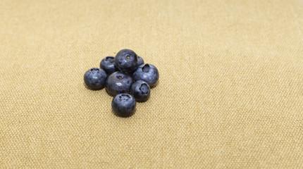 Northern highbush blueberries on the linen