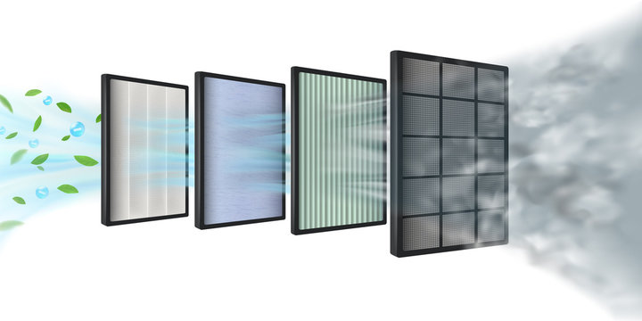 The new Multi-layer air filter efficiency technology consists of multiple filter layers. Coarse fibers, carbon layers, HEPA filter, fabric layers, air purification layer, protecting against PM2.5.
