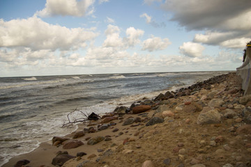Piękny krajobraz morze bałtyckie