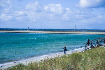Piękny krajobraz brzeg morze bałtyckie