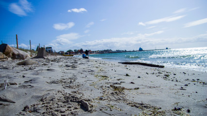 Obraz piękny krajobraz morski  brzeg morza - fototapety do salonu