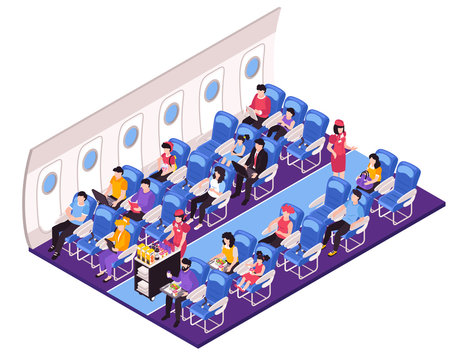 Aircraft Interior Isometric Composition