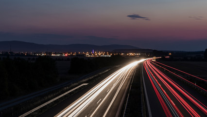 autobahn nacht