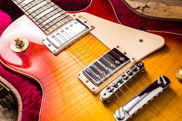 Papiers peints Rouge, noir, blanc guitar