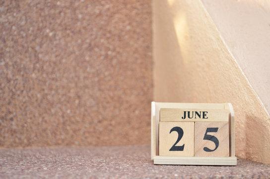June 25, Empty gravel background.