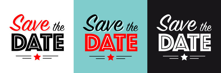 Wall Mural - Save the date !