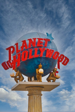Planet Hollywood Sign in Las Vegas