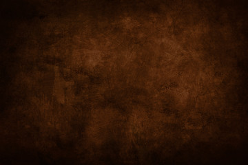 dark brown stained grungy background or texture Fotobehang