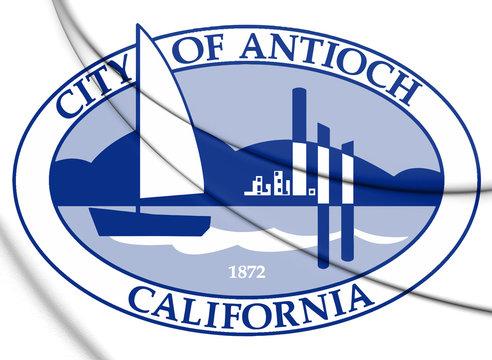 3D Seal of Antioch (California), USA. 3D Illustration.