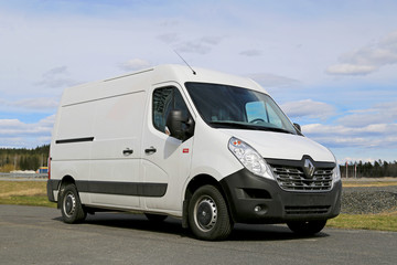 White Renault Master Van. Illustrative Editorial Content.
