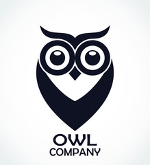 Wall Murals Owls cartoon owl icon simple logo desing